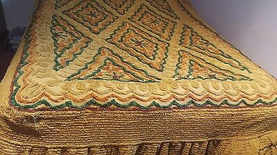 Vintage Candlewick Bedspread Double. Boho, shabby chic