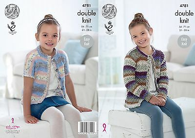 KINGCOLE 4781 CHILDRENS DK KNITTING PATTERN  21-28 IN -not the finished garments