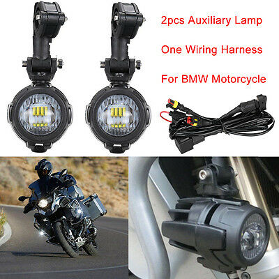 led auxiliary fog lights 40a wiring harness switch for bmw motorcycle r1100gs BMW Motorcycle Front Forks