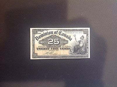 Canada 1900 Fractional Bank Note, $.25, Nice F-VF