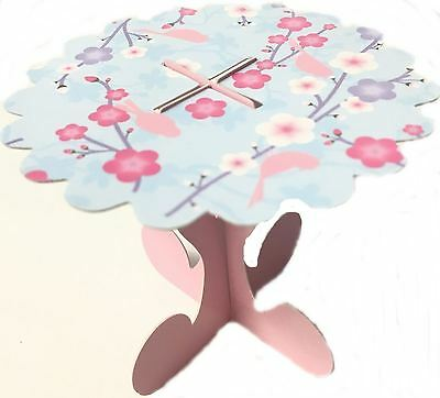 10 Mini Cupcake Stands Cherry Blossom Muffin Cake Party Decor Individual Table