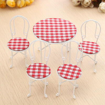 1/12 Scale Dining-table Chair Set Dollhouse Miniature Furniture Accessories For