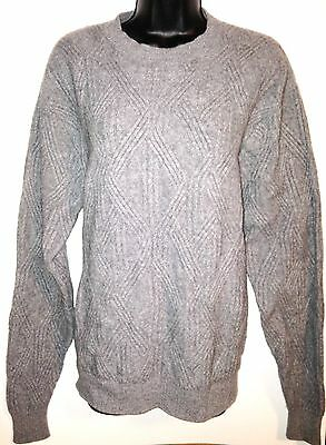 Talbots Cashmere Wool Blend Sweater Large Men's Gray