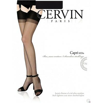 Strümpfe CERVIN CAPRI 10den Nylon Stokings Pin-up Burlesque Gr.S-XXL
