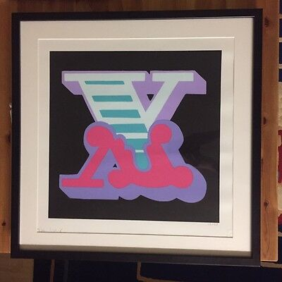 Ben Eine - X '2015' Signed, Numbered and Framed - Very Rare