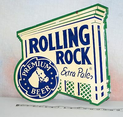 Metal Beer Sign - Rolling Rock Extra Pale Premium Beer - Bar Man Cave Decor 14""