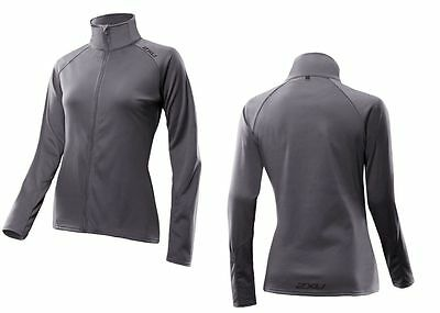 2XU Micro Thermal Jacket Women's Medium Grey Softshell Running WR2525a SRP $150