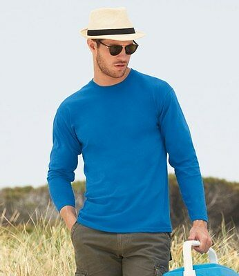 Fruit of the Loom Long Sleeve Value T-Shirt All Sizes and Colours