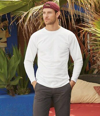 Fruit of the Loom Long Sleeve Super Premium T-Shirt All Sizes and Colours