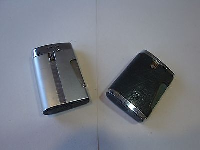 Two Ronson varaflame lighters  Comet - silver chrome steelhead