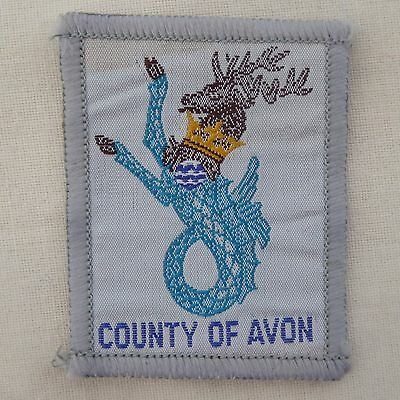 New Vintage County Of Avon Scout County Badge Woven Bound Ref 308