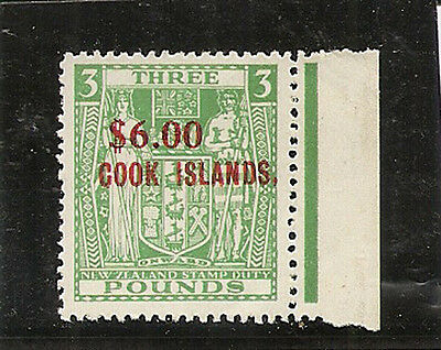 COOK ISLANDS 1967  $6 on £3 SG220