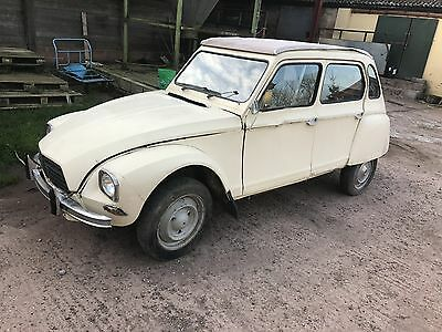 1977 Citroen Dyane For Restoration,lhd Comes With French Papers