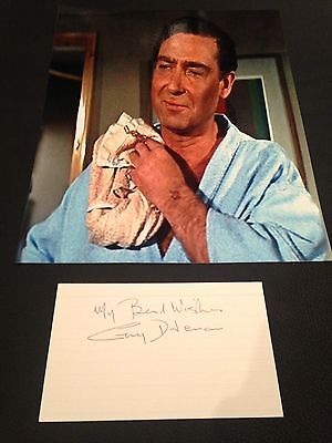 Guy Doleman Hand Signed card James Bond RARE