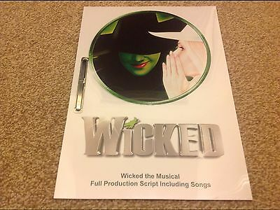 Wicked the Musical Production Script inc songs. Double Sided