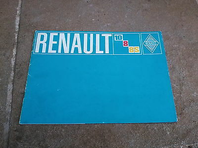 Renault 8 8S  10 1300 1970-71 UK Market Sales Brochure