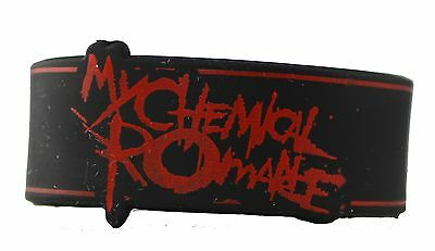 Licenses Products My Chemical Romance Logo Rubber Wristband New