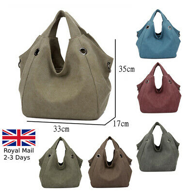 Women Ladies Quality Canvas Large Tote Bag Shoulder Handbag Shopper