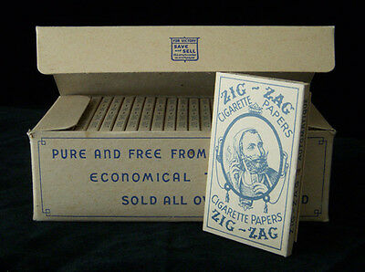 Zig-Zag Vintage Cigarette Rolling Papers WWII 1940's Full Box Rare