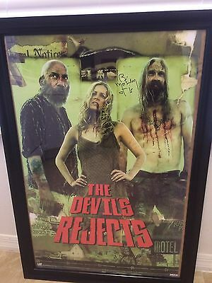 """Devil's Rejects """"Otis""""  Bill Moseley Autographed Movie Poster COA rob zombie"""