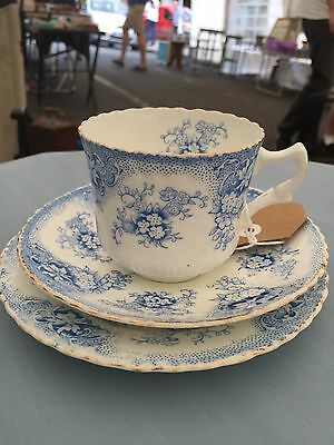Royal Albert May Pattern Trio Blue And White