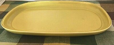 """Vintage Russel Wright Steubenville American Modern Chartreuse 13"""" Oval Platter"""