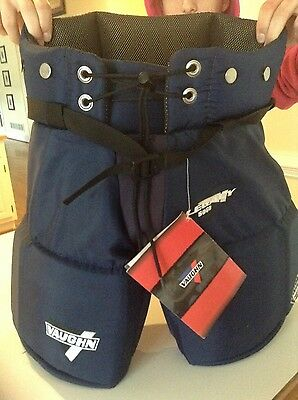 New Hockey Goalie Pants, Vaughn  size Medium junior navy blue NWT