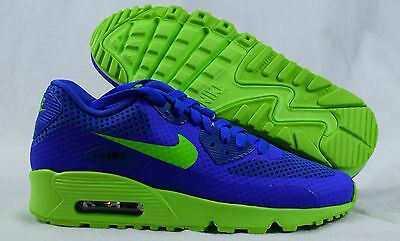 Nike Air Max 90 BR 833475-400 Blue Green Youth GS Boys Shoes Size 5Y