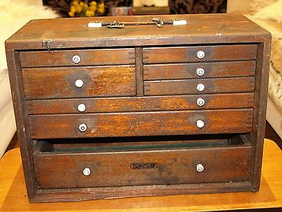 Vintage Union 8 Drawer Toolmakers Cabinet Chest Box needs a little TLC