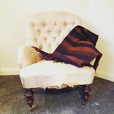 An Antique Edwardian Button Back Chair