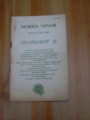 Morris Minor Series 2 & 1000 (1952-61) Original Owners Service Parts Catalogue
