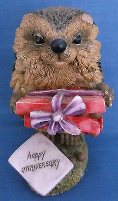 Hedgies Collection 1996 Happy Anniversary Hedgehog Terry Figurine Langford