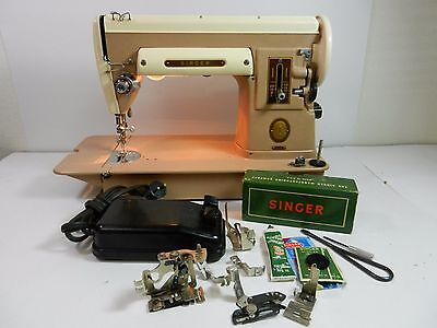 Singer 301A Sewing Machine Slant Needle Stitching Heavy Duty Industrial Vintage