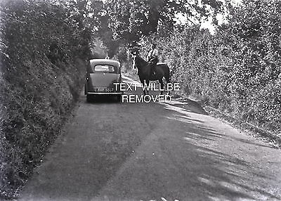 CAR FHP 50 [1??] MOSTLY LYNMOUTH & DEVON 1930/40s 1/6th PLATE GLASS NEGATIVE 088