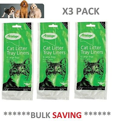 Cat Litter Tray Liners Extra Large 52 x 40 cm Liner x 3 Pack Armitage - OFFER!