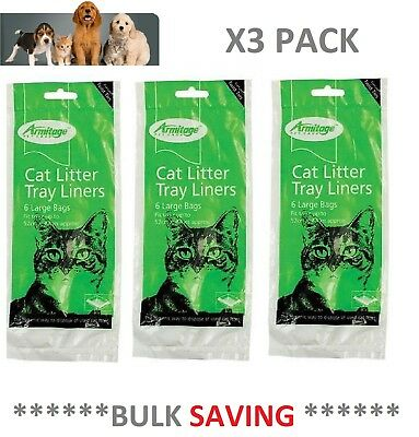 Cat Litter Tray Liners Extra Large 55 x 40cm Liner x 3 Pack Animal Instinct
