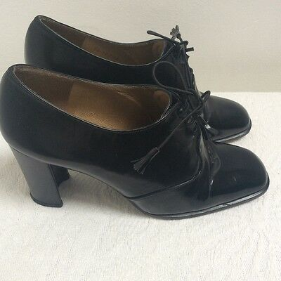 Stuart Weitzman for russell&bromley black lace up shoes, boots size 5.5