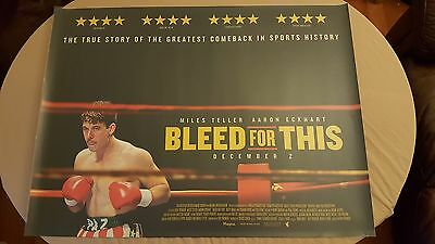 Bleed for This UK Cinema Quad Movie Poster