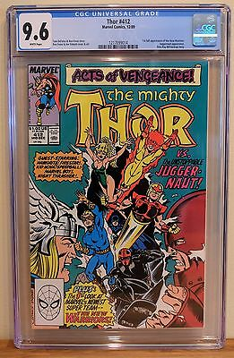 THOR #412 CGC 9.6 - WHITE *1st FULL APPEARANCE OF THE NEW WARRIORS*