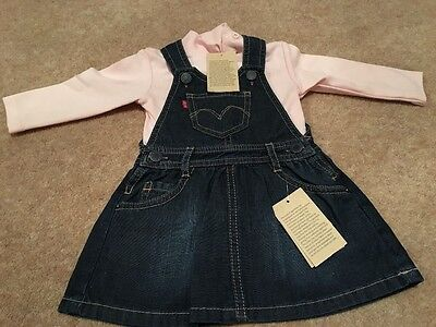 Baby girl's denim dress and top set by Levi's size 12 months NEW