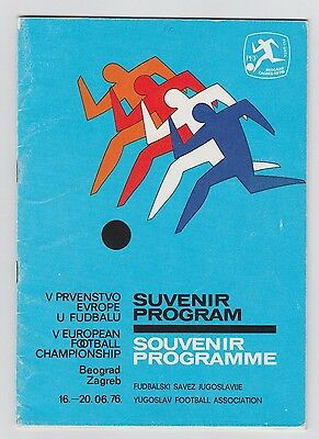 Orig.PRG    European Championship YUGOSLAVIA 1976 - FINAL TOURNAMENT  !!  RARITY