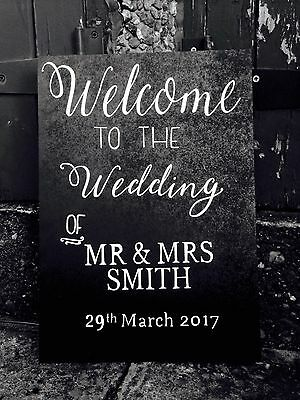Welcome To Our Wedding Wooden Sign, wedding Venue Decoration Mr And Mrs