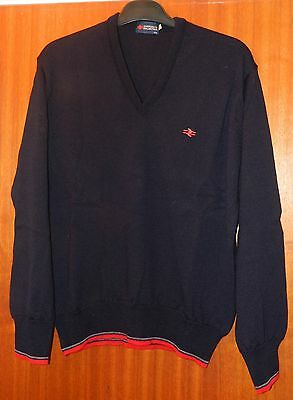 BR British Rail Corporate Collection Navy Wool V-neck Pullover Uniform