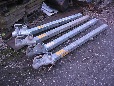 1 Used Static Tow Bar Removable Adjustable - Extendable Galvanised Steel 50 Mil