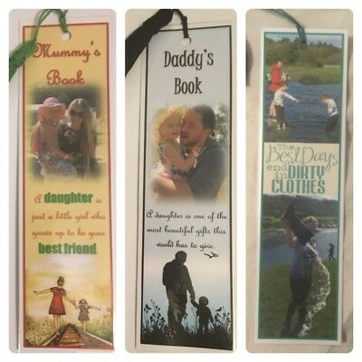 Personalised Bookmark/ Personalised Gift/ Quality/ Double-Sided/ Photo Bookmarks