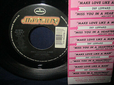 DEF LEPPARD MAKE Love Like A Man/miss You In A Heartbeat