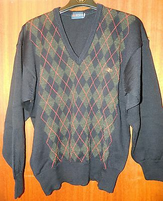 BR British Rail Corporate Collection Argyll Wool V-neck Pullover Uniform
