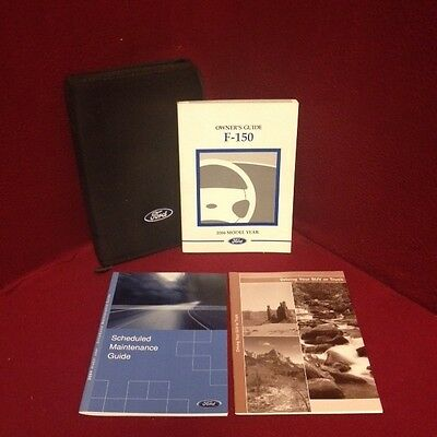 2004 Ford F150 Classic Heritage Owners Manual with warranty guide and case