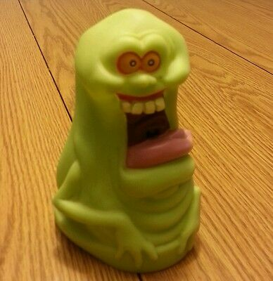 Vtg ghostbusters slimer figure ecto plasma hand puppet display green movie
