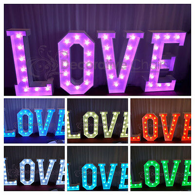 4ft LED LOVE Letters,colour changing new for 2017. Price includes delivery...